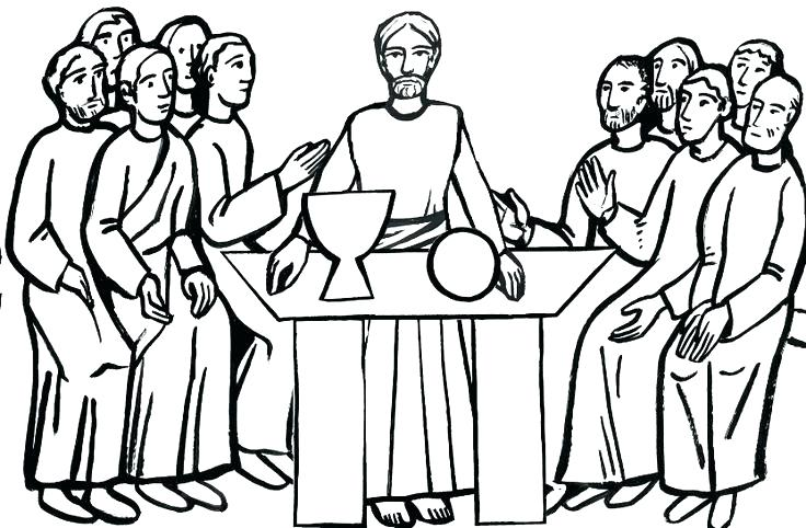 736x482 Best Lent Coloring Pages Kids Good The Last Supper Page For Holy