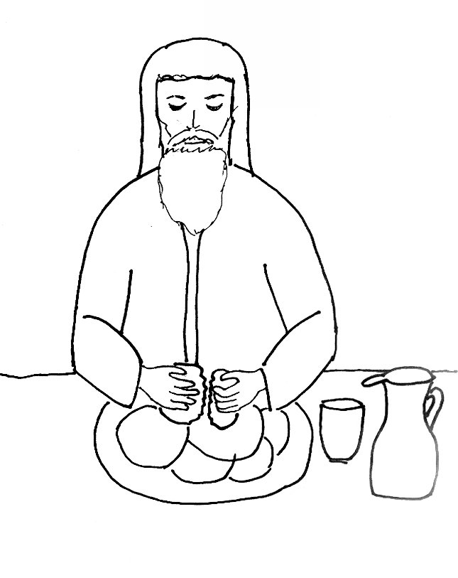 645x813 Bible Story Coloring Page For The Last Supper Free Bible Stories
