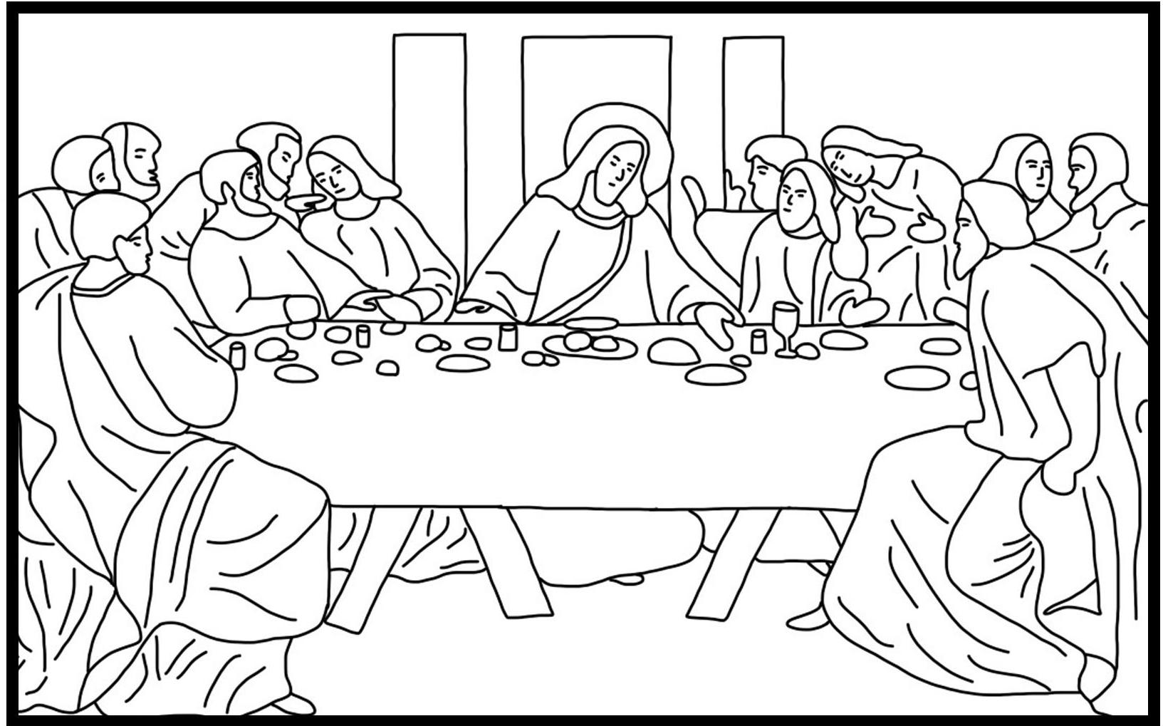 1633x1019 Coloring Pages Engaging Last Supper