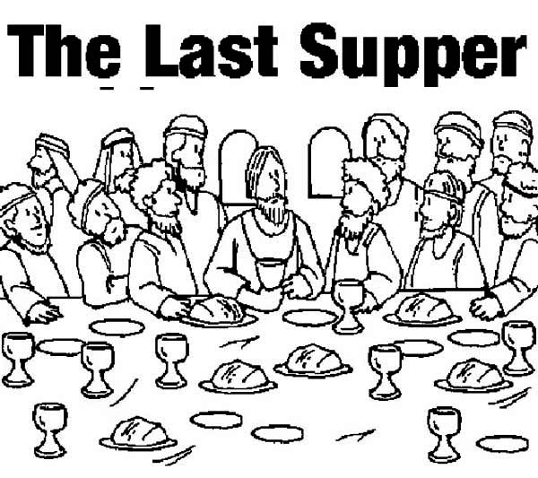 600x533 Coloring Pages Outstanding Last Supper The