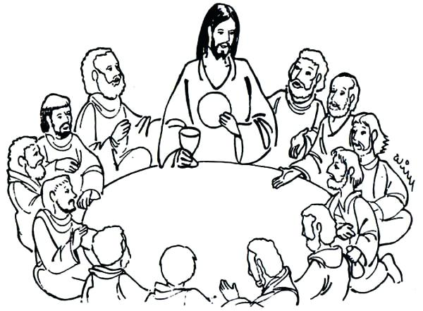 Last Supper Pencil Drawing at GetDrawings.com | Free for ... Da Vinci Last Supper Coloring Pages