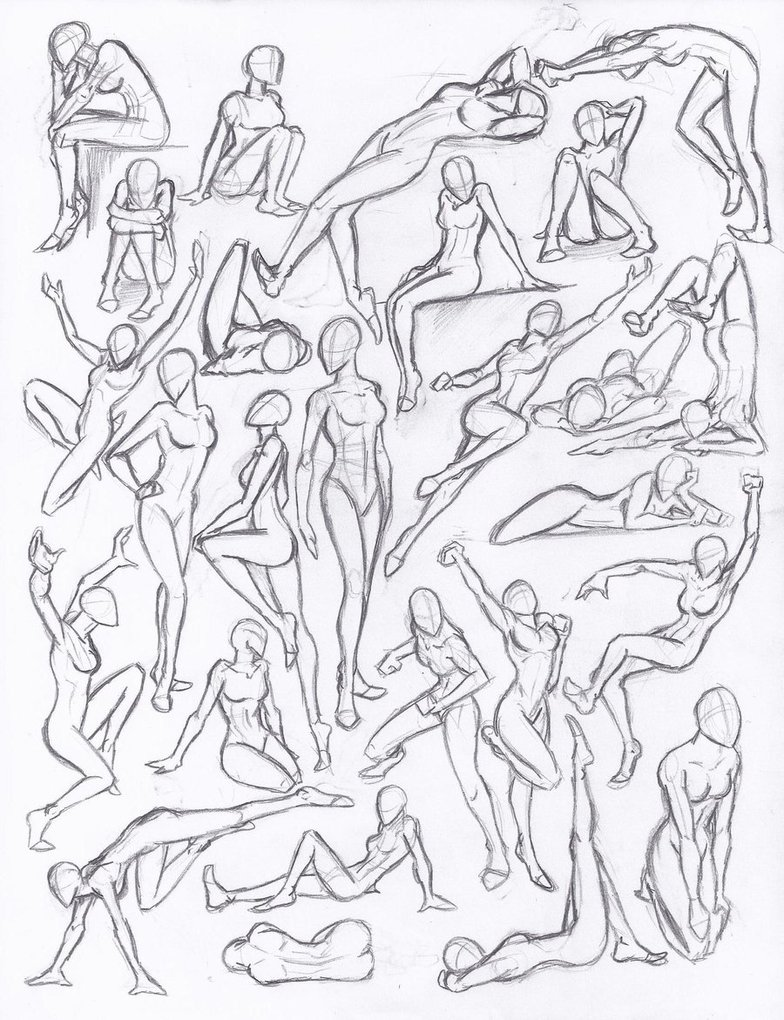784x1020 Figure Drawing Studies
