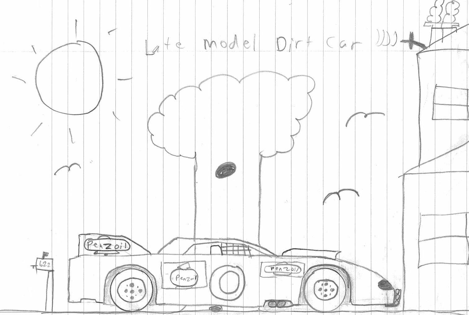 1514x1017 Late Model Dirt Car By K1092000