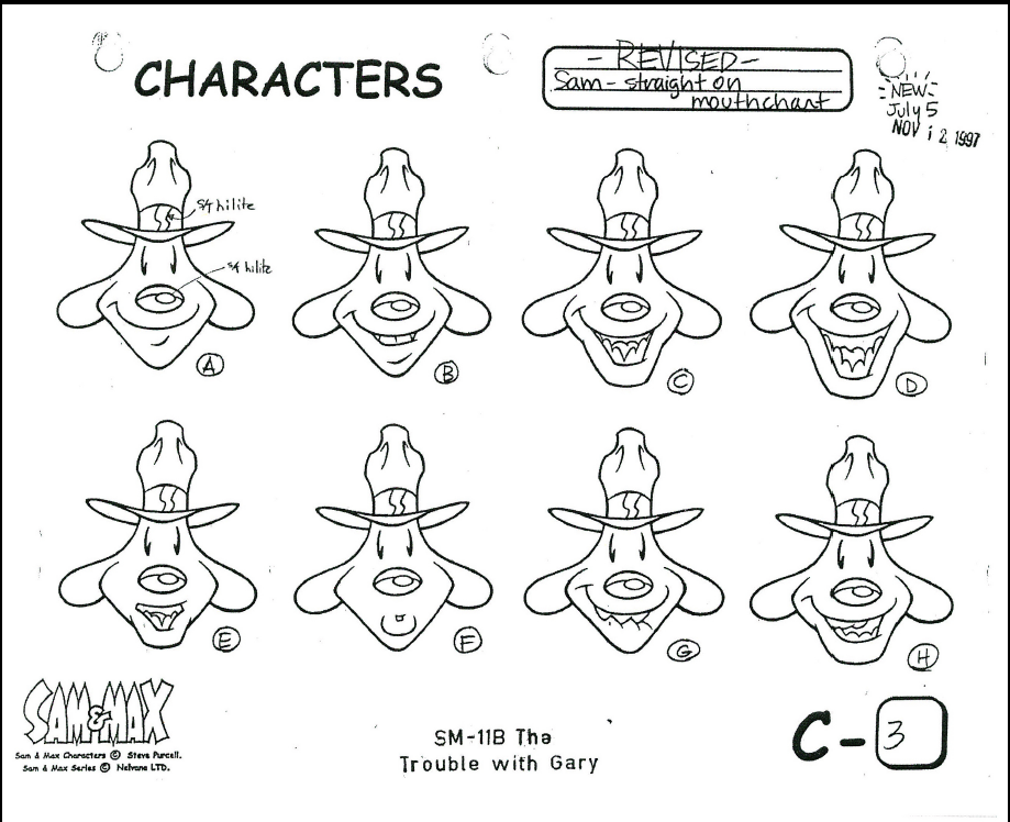 919x748 Model Sheets For Sam And Max. Great Characters, That Have Been