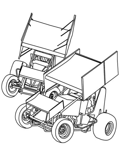 400x500 dirt late model coloring pages