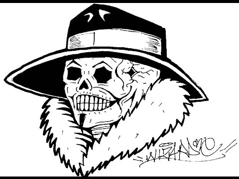 480x360 How To Draw A Gangster Skull