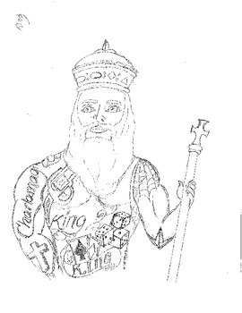 270x350 Charlemagne Latin King Drawing By Eliasvivo Teachers Pay Teachers