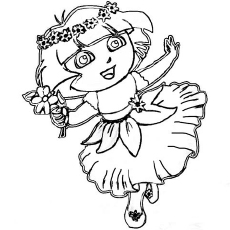 230x230 Dora Coloring Pages