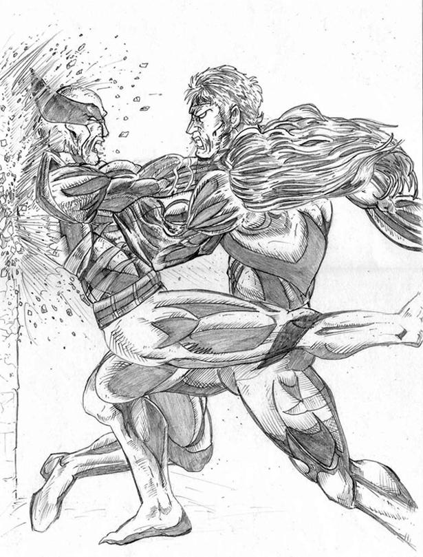 615x809 Sabretooth Vs Wolverine By Latino Champion