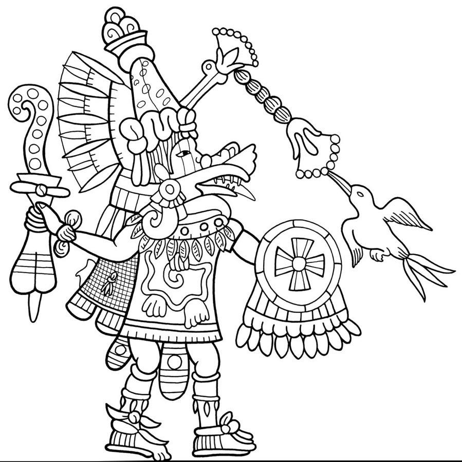 899x898 Aztec Mythology