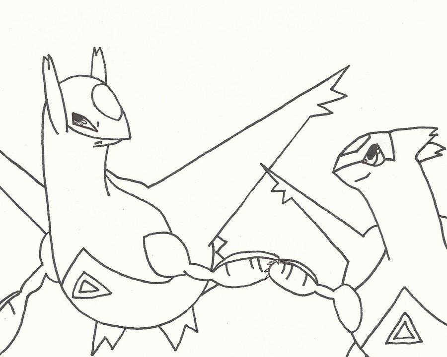 900x720 Latios And Latias (Outline) By Wing Guardian