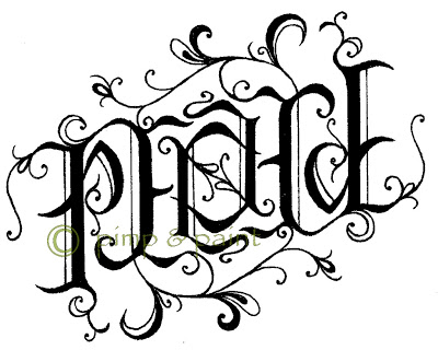 400x320 Altered Alchemy an ambigram of PEACE