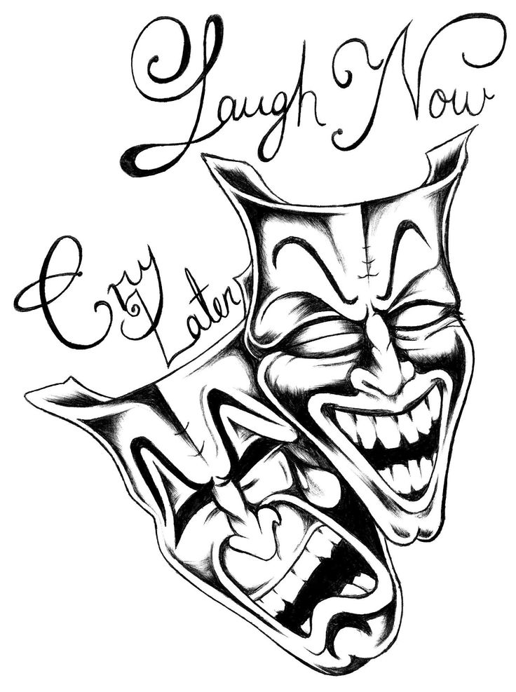 Laugh Now Cry Later Drawing