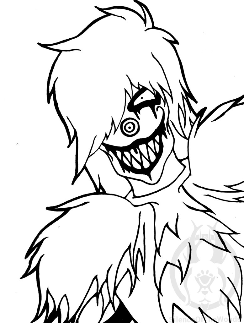 778x1028 Laughing Jack Line Art By Silenceofthewoods