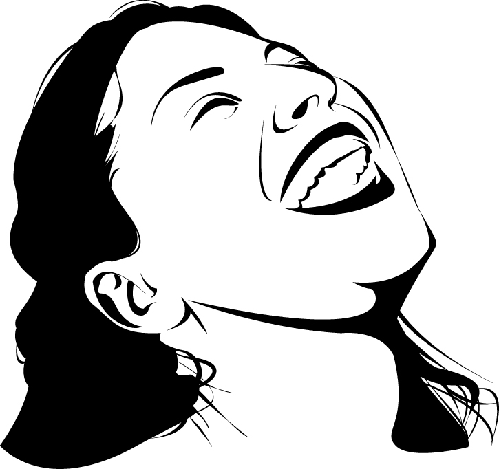 725x682 Laughing Lady Vector Art Free Download Maca Is Rambling