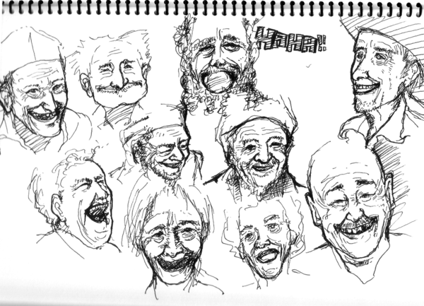 600x433 Laughing Old Man By Mei Lovedrawing