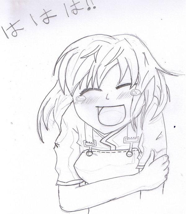 600x689 Laughing Manga Girl By Yummcookie
