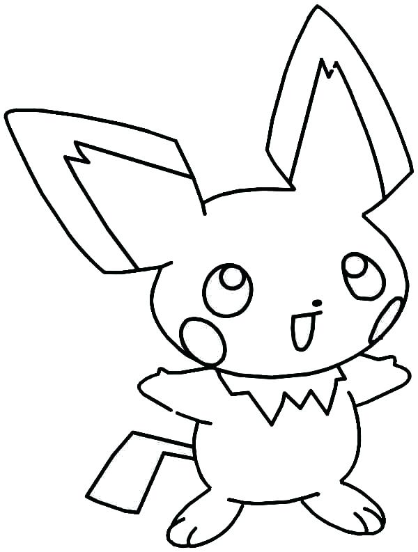 600x793 Pichu Coloring Pages Laughing Coloring Page Cute Pichu Coloring