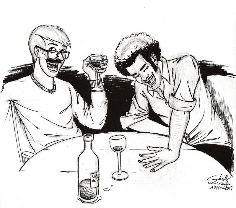 799x704 Wine And Laughs By Qbgchaille