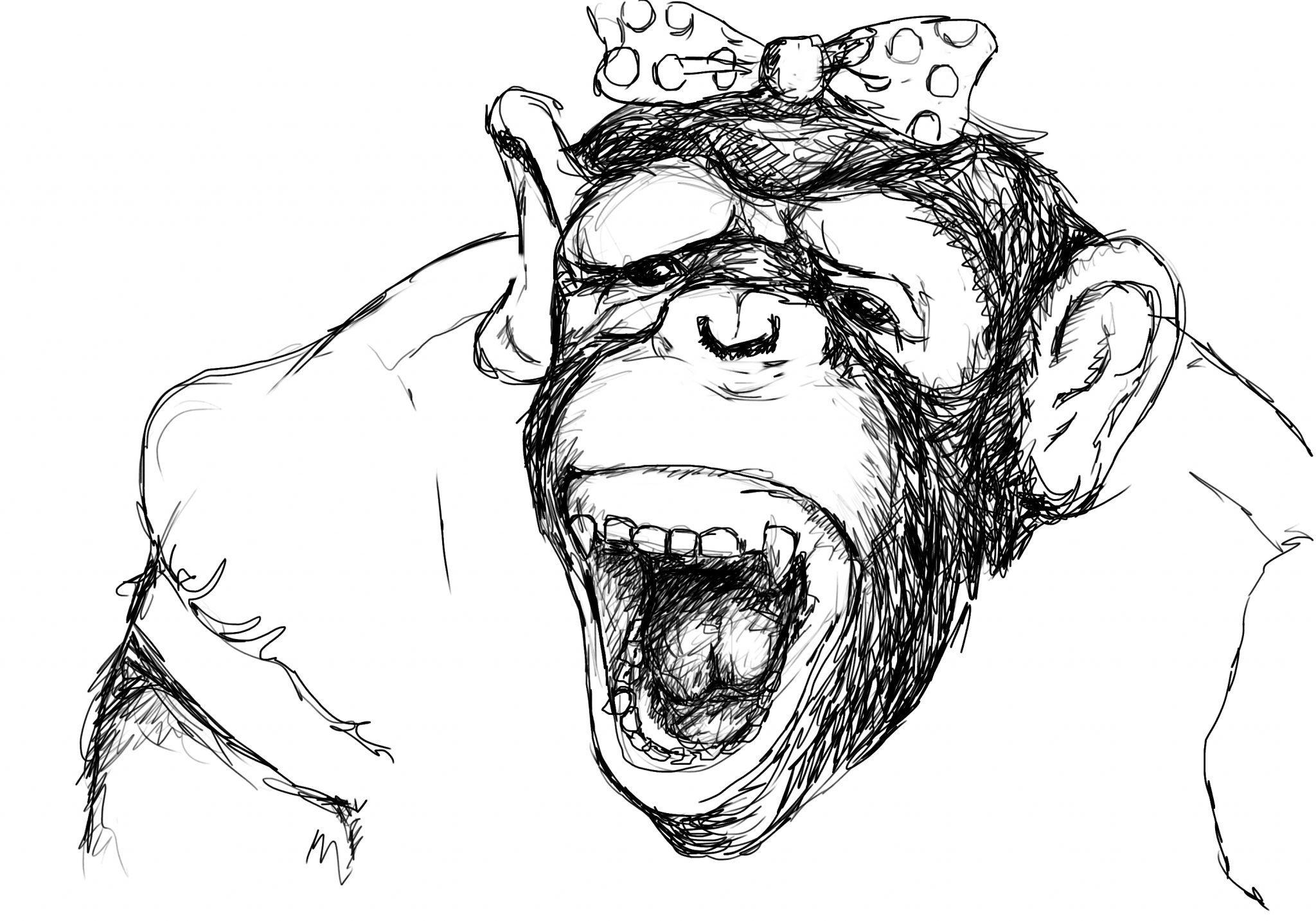 2048x1434 Laughing Girl 10,000 Bad Drawings