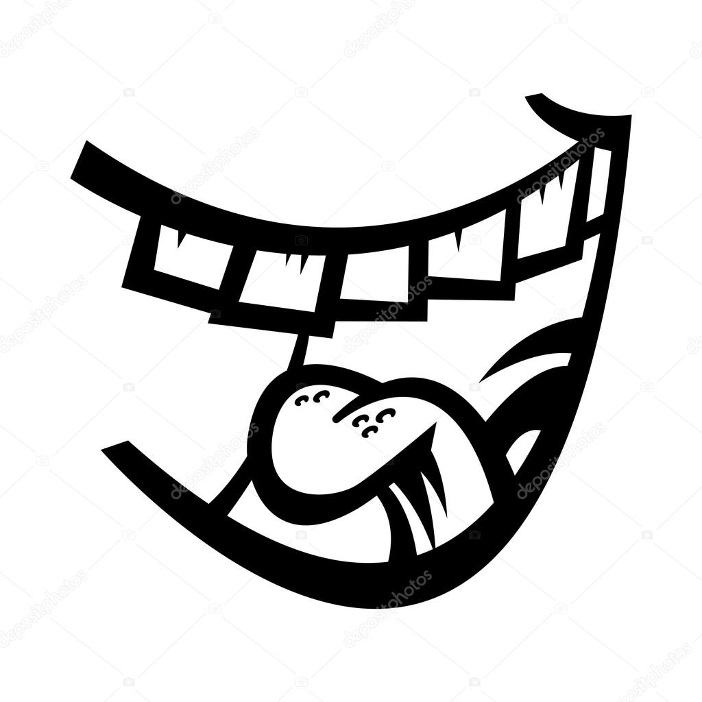 1024x1024 Laughing Mouth Vector Icon Stock Vector Briangoff
