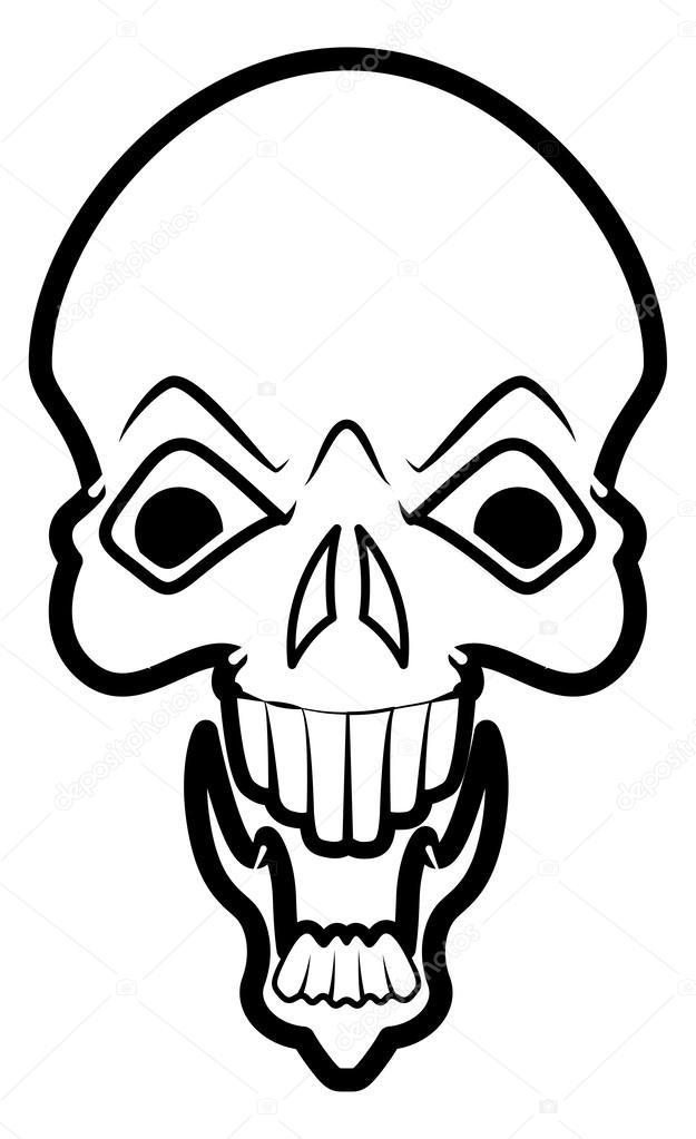 625x1023 Laughing Skull Stock Vector Baavli