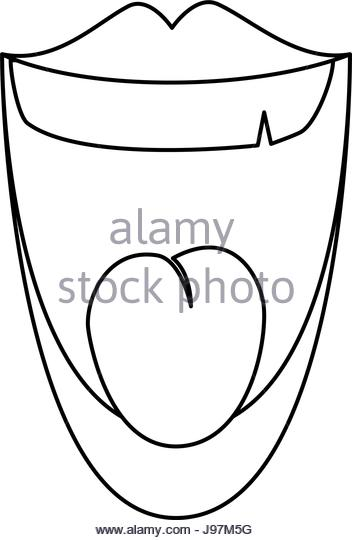352x540 Mouth Laughing Cartoon Icon Vector Stock Photos Amp Mouth Laughing