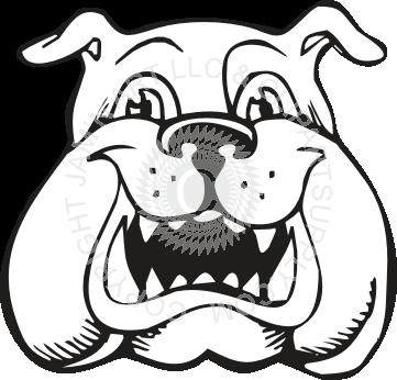 361x346 Uga Bulldog Cartoon Drawing