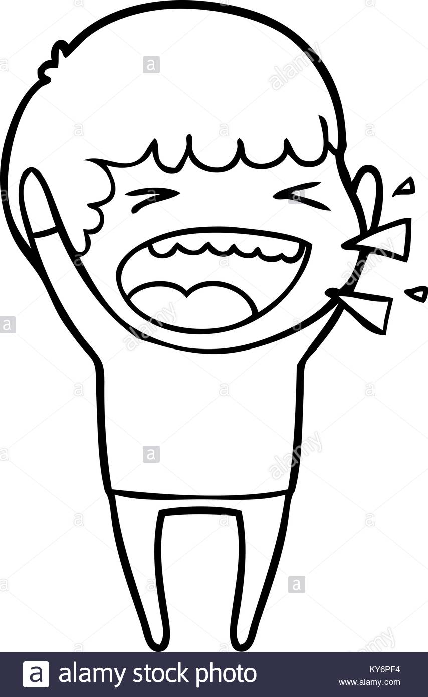 854x1390 Cartoon Laughing Man Black And White Stock Photos Amp Images