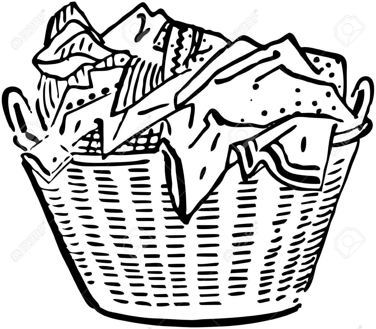1300x1139 Laundry Basket Royalty Free Cliparts, Vectors, And Stock