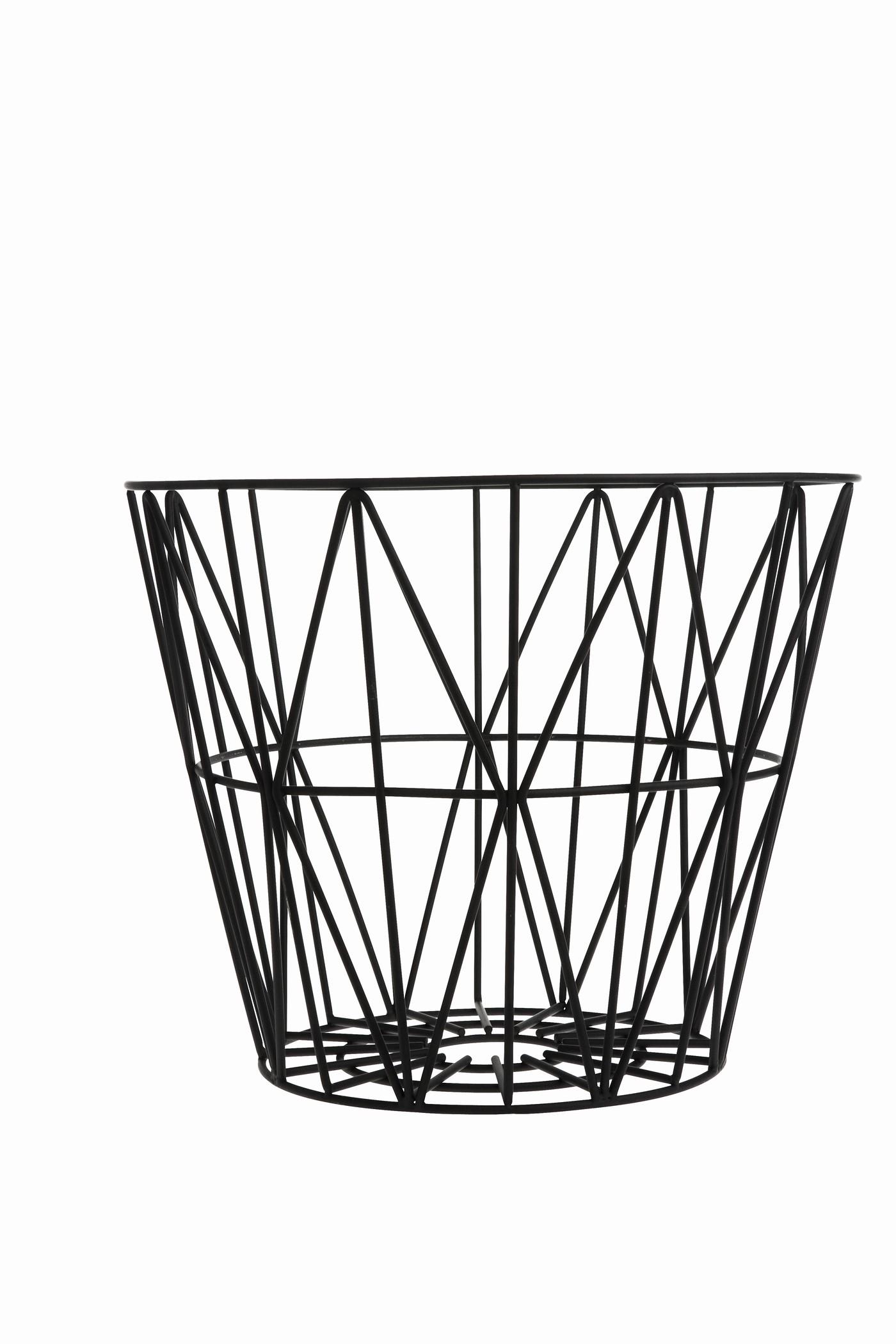 1400x2100 Wire Vintage Laundry Basket Ebony Laundry Shoppe