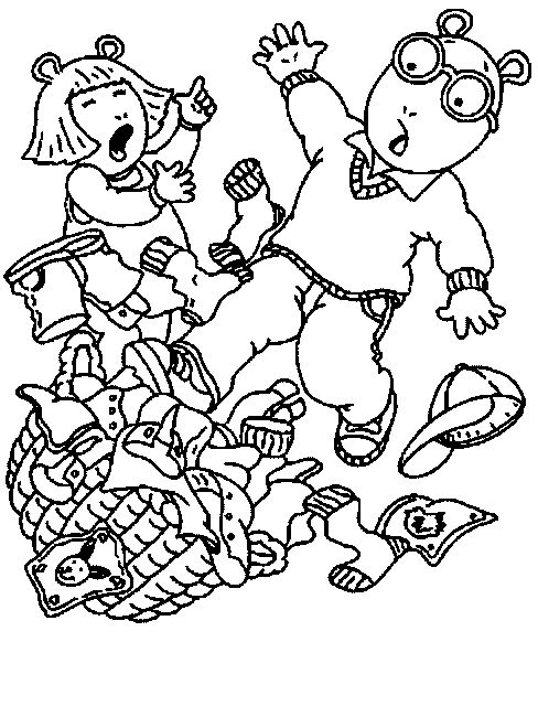 488x650 Coloring Amp Activity Pages D.w. Amp Arthur Tripping Over Dirty
