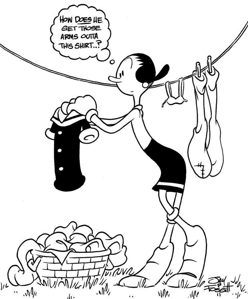 814x982 Olive Oyl Doing Laundry By Jayfosgitt
