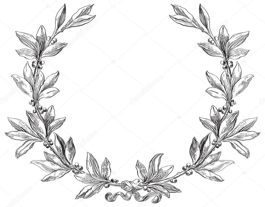 1023x802 Laurel Wreath Stock Vector Song Mi