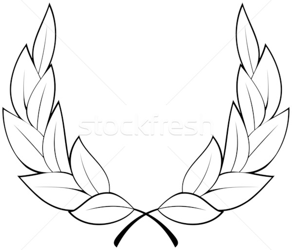 600x514 Vector Laurel Wreath Vector Illustration Mr Vector ( 497261