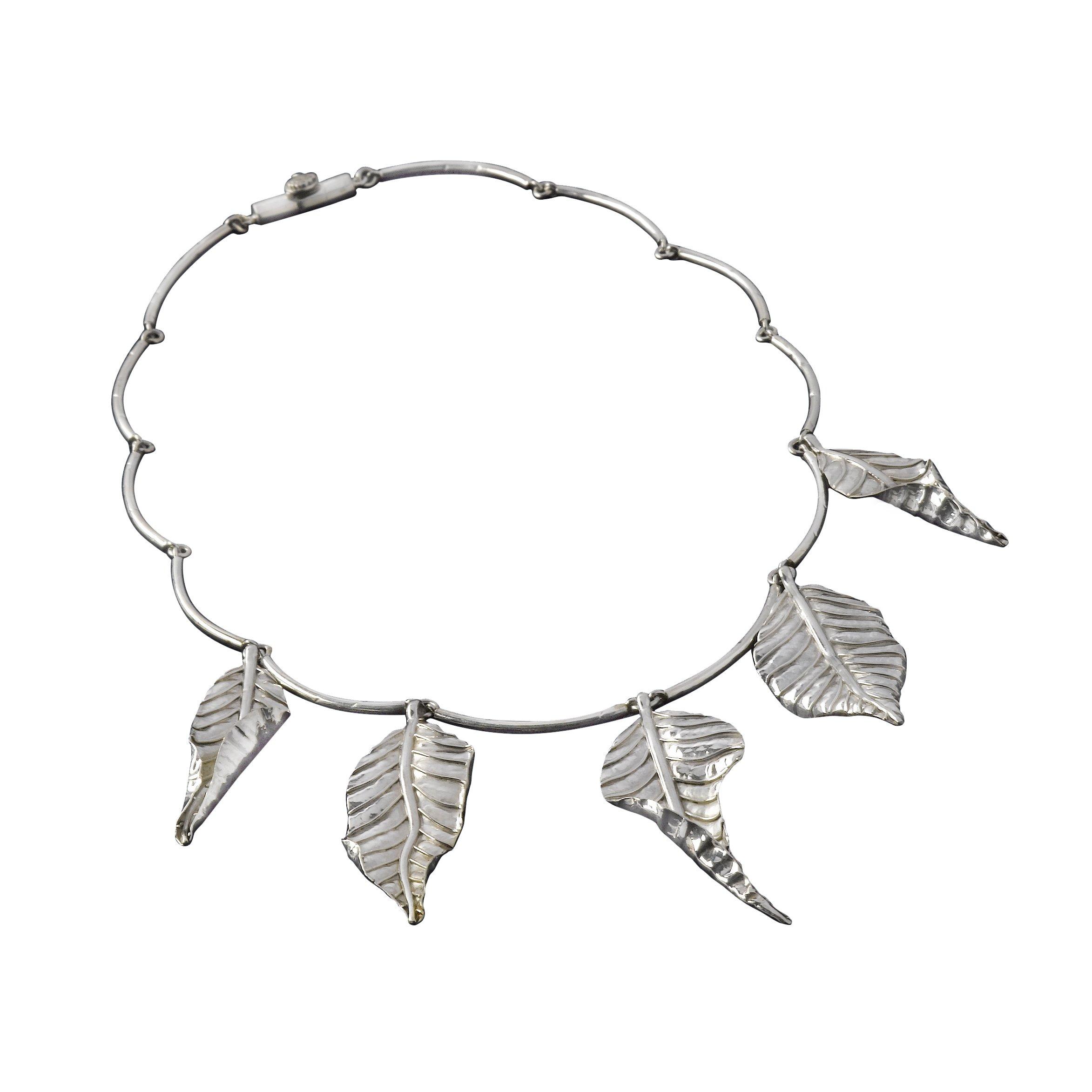 2346x2346 Autumn Laurel Leaf Necklace Tarra Rosenbaum Handmade Jewelry