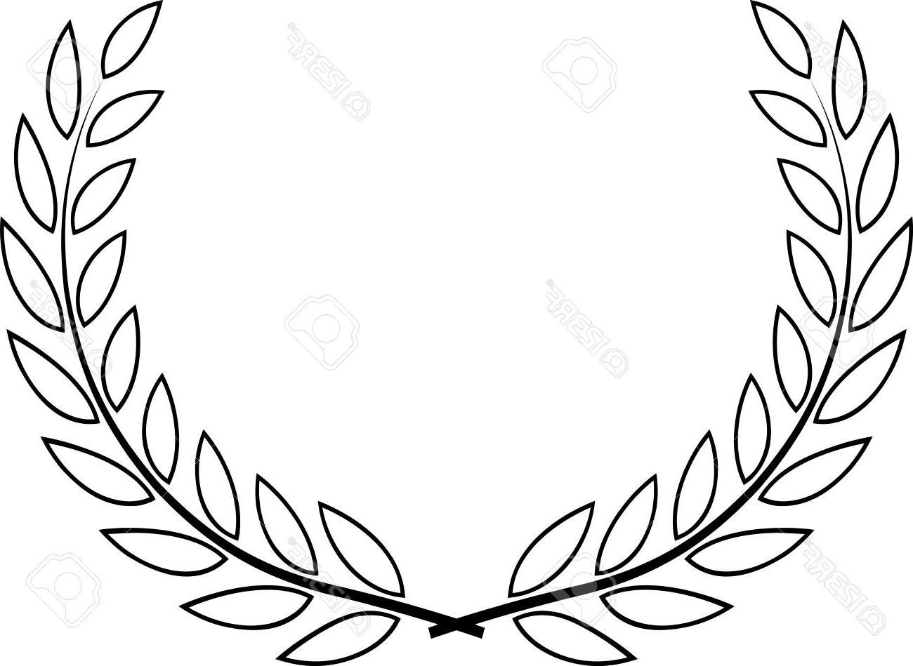1300x949 Best Free Laurel Wreath Vector Stock Library