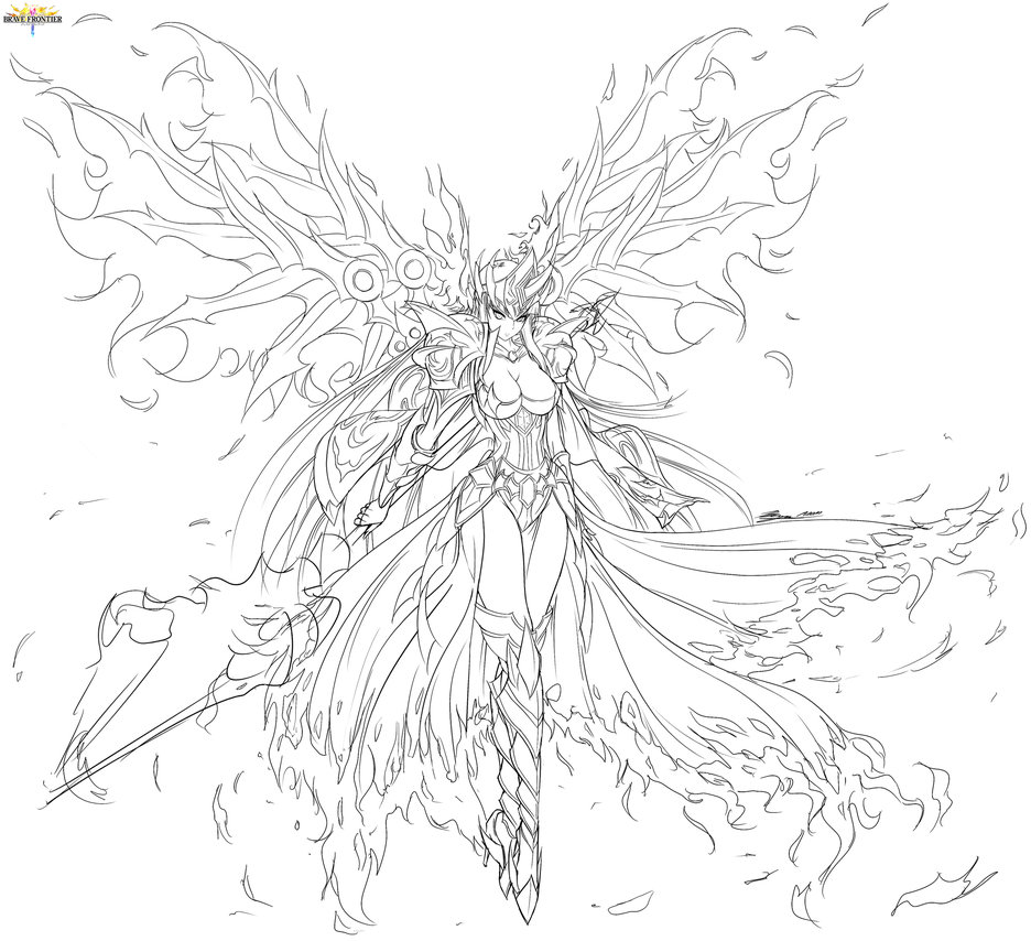 936x854 Brave Frontier Fanart Shiny Wings Goddess Lava By Bunny15539