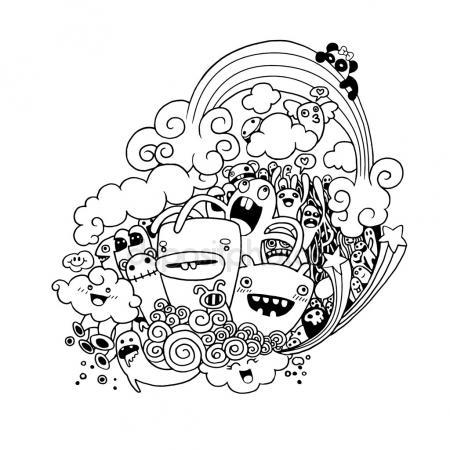 450x450 Lavender Bouquet Sketch. Hand Drawn Cartoon Flower Icon. Doodle