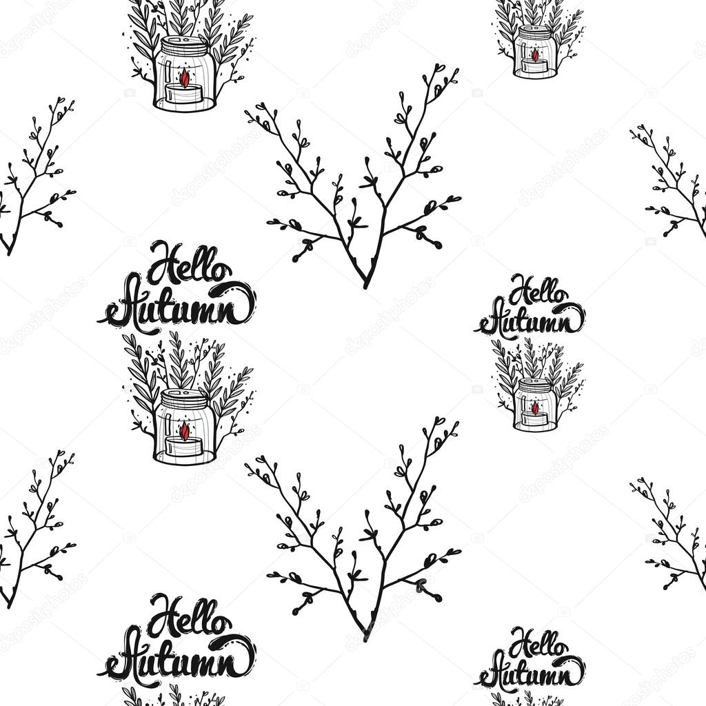 1024x1024 Pattern With Lavender Bouquet And Candlestick With Lettering