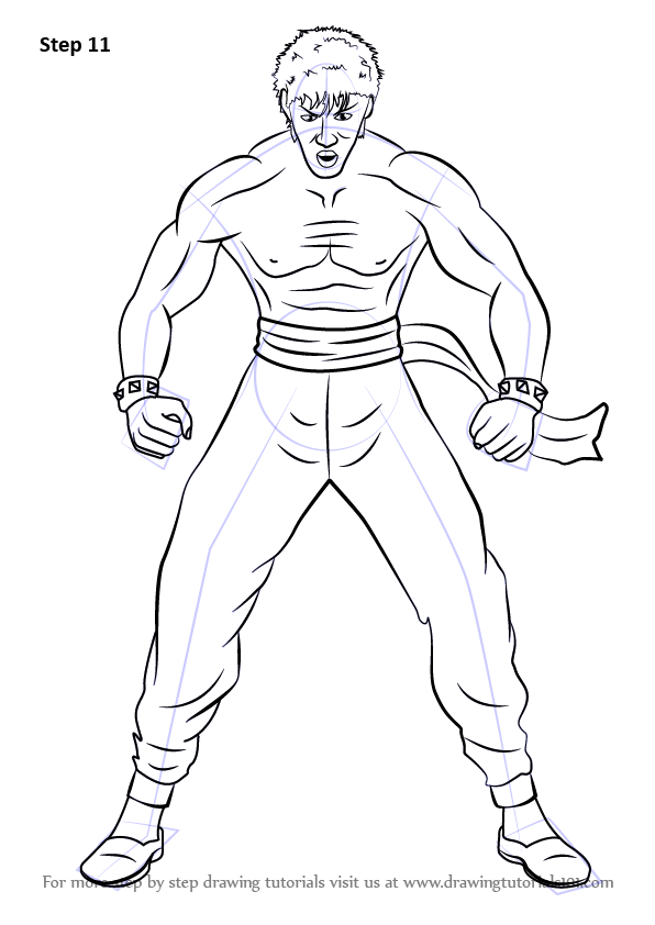 596x842 Learn How To Draw Marshall Law From Tekken (Tekken) Step By Step