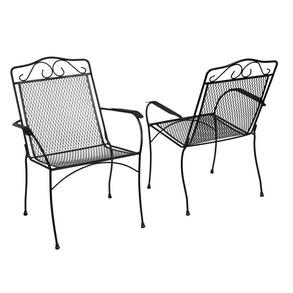 1000x1000 Hampton Bay Nantucket Metal Outdoor Dining Chair (2 Pack) 6990700