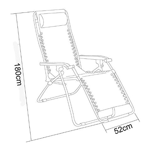 466x465 Recliner Garden Lounge Chair, Folding Foldable Outdoors Camping