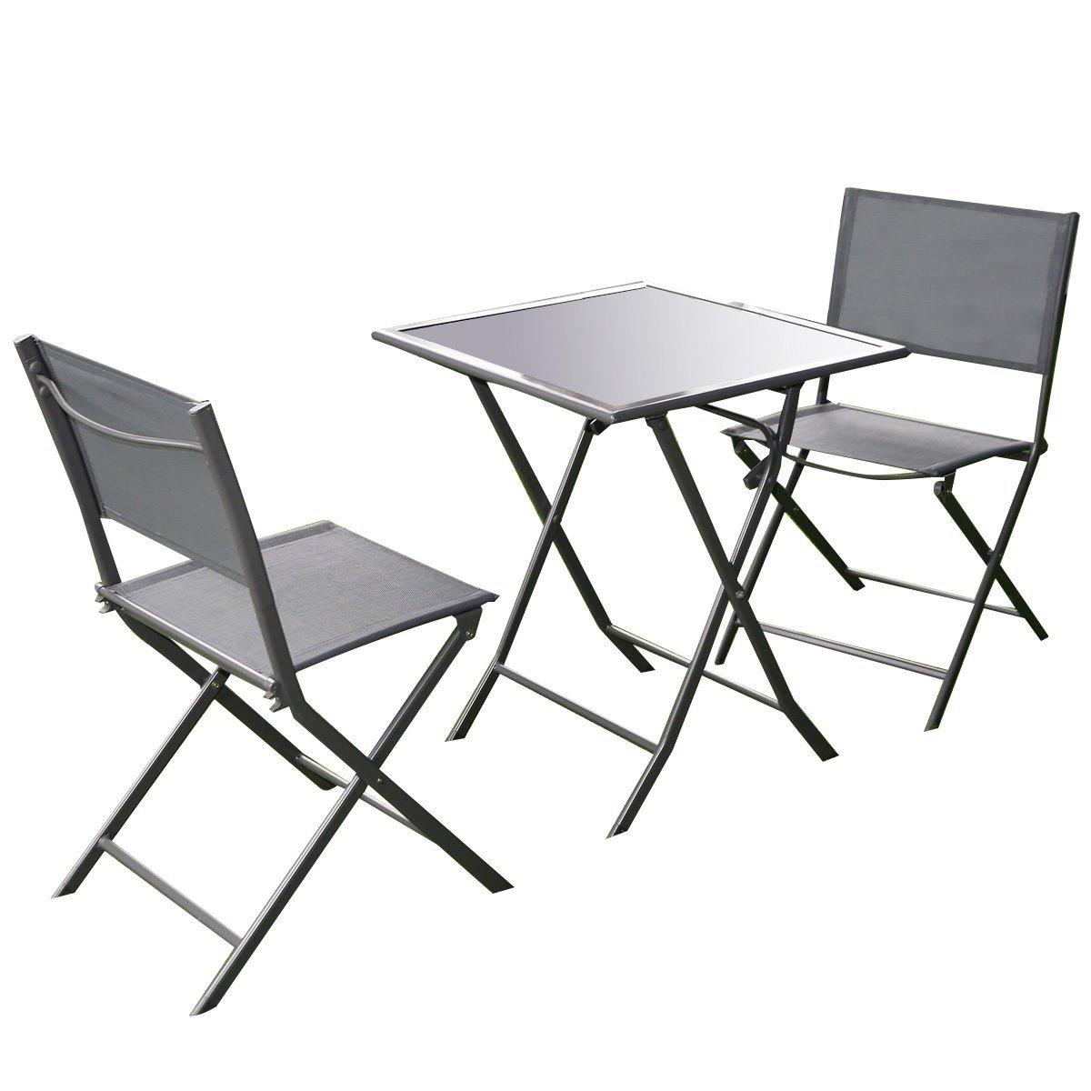 1200x1200 Giantex 3 Pcs Bistro Set Garden Backyard Table Chairs