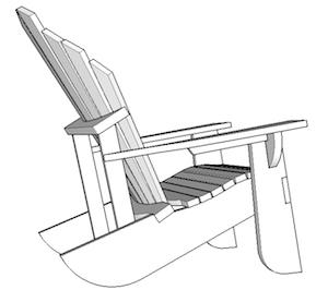 300x277 Adirondack Chair Drawing