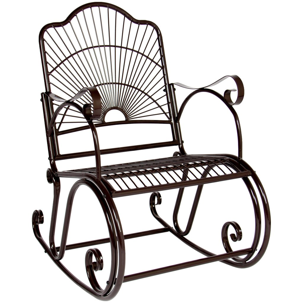 1024x1024 Best Choice Products Bcp Patio Iron Scroll Porch Rocker Rocking Chair