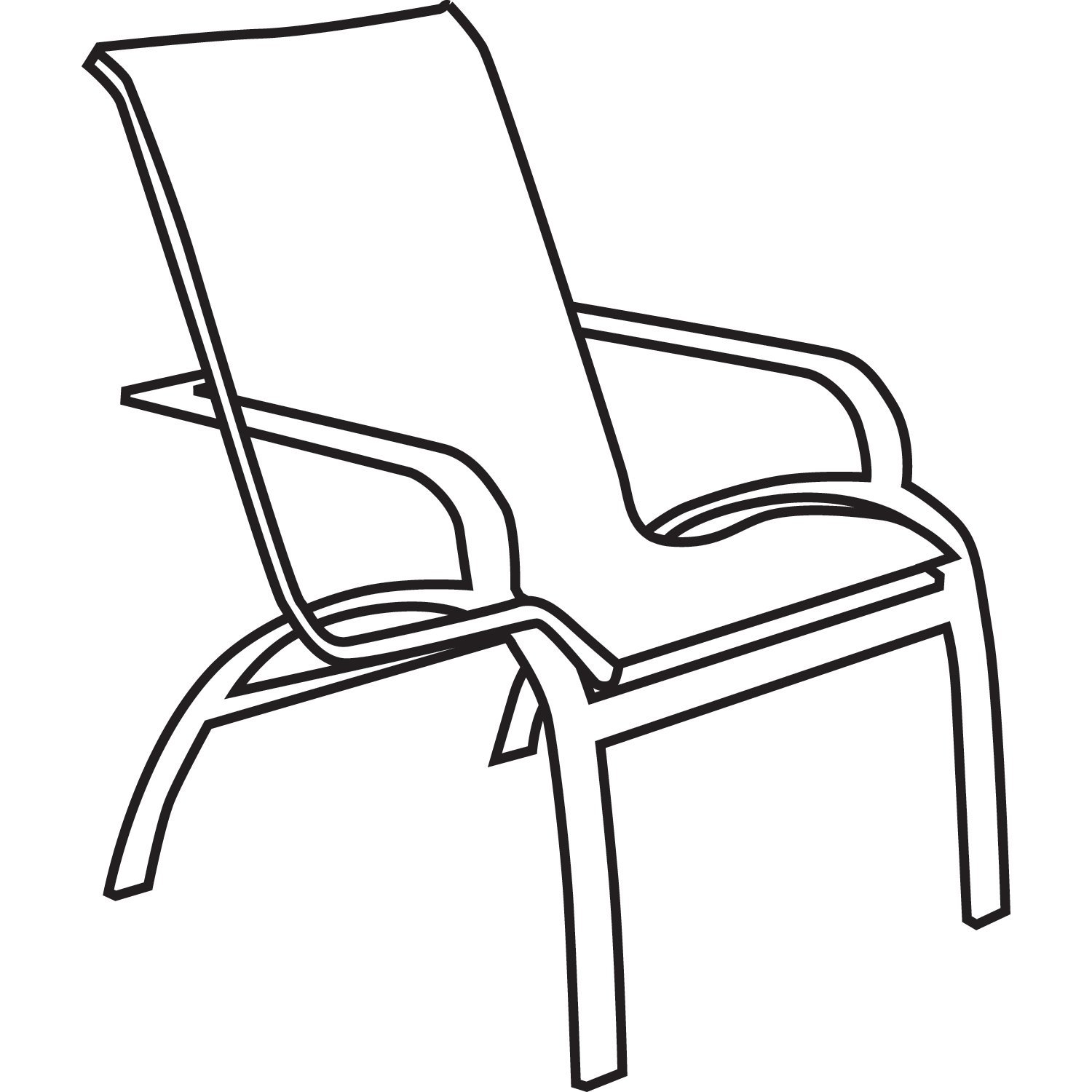 Line Drawing Chair : Lawn chair drawing at getdrawings free for personal