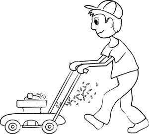 300x270 Free Kid Mowing Lawn Clipart Image 0515 1002 2520 2606 Computer