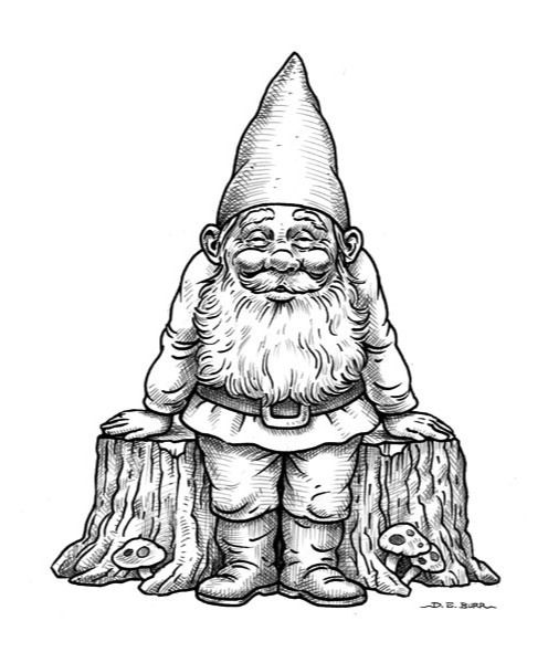 496x600 How To Draw A Gnome, Step By Step, Stuff, Pop Culture, Free Online