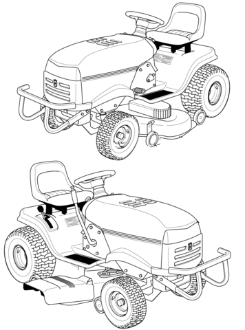 356x480 Husqvarna Riding Lawn Mower Coloring Page Free Printable